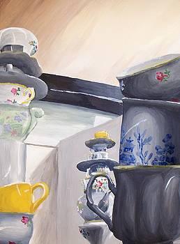 Towers of Teacups by Kellie Hogben
