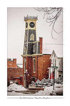 Town Clock Snowstorm by Andy Smetzer