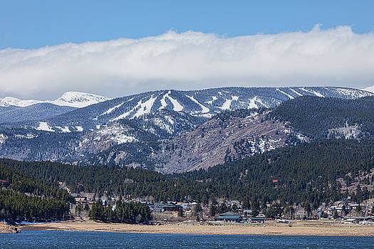Town Of Nederland Colorado And Eldora Ski Slopes by James BO Insogna
