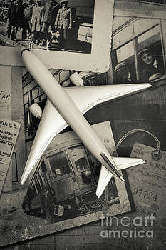 Toy Airplane Vintage Travel by Edward Fielding