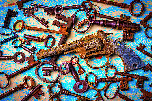 Toy Gun And Old Keys by Garry Gay