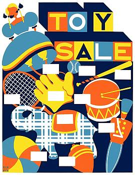 Toy sale WPA poster 1939 by Vintage Printery