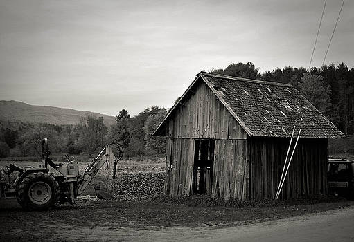 Tractor and Shed by Mandy Wiltse