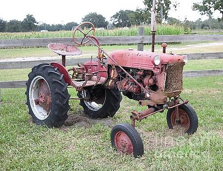 Tractor in Red by Dodie Ulery