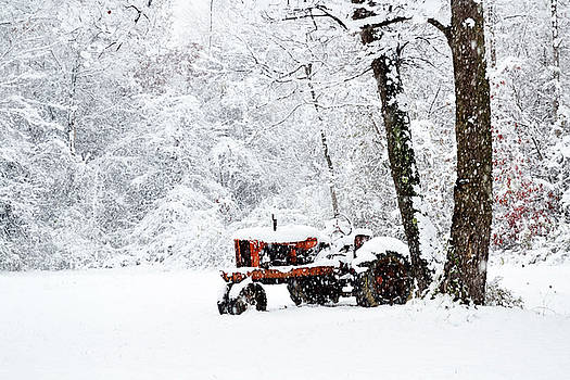 Tractor In Snow by Amy Kephart