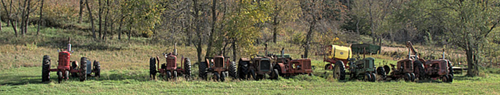 Tractor Lineup by Tom Winfield
