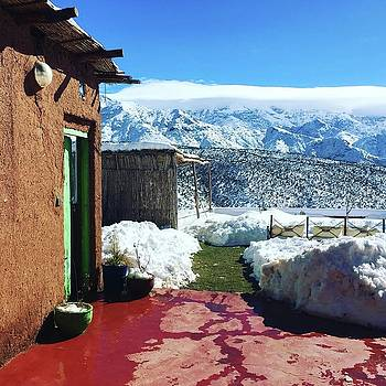 Traditional Berber House in the Atlas Mountains by Lori Fitzgibbons
