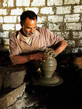 Traditional Egyptian Potter by Aisha Abdelhamid