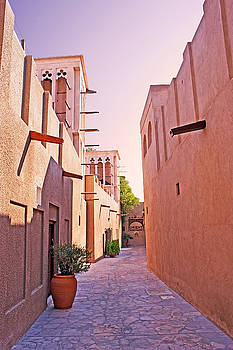 Traditional Middle Eastern Street in Dubai by Chris Smith