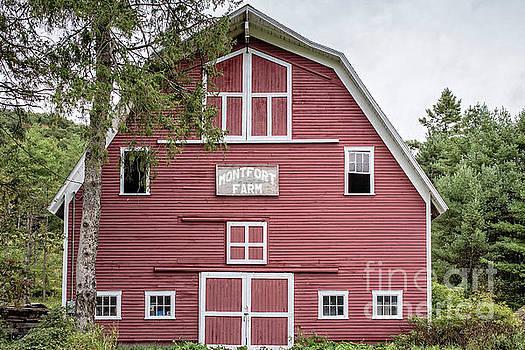 Traditonal Red New England Barn by Edward Fielding