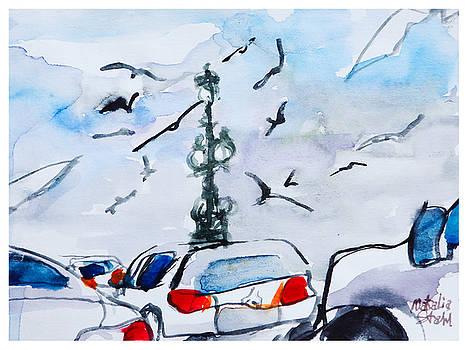 Traffic in Saint-Petersburg by Natalia Stahl