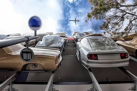 Traffic on the Flyover by Chrystyne Novack
