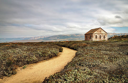 Trail and Shed - San Simeon, California by R Scott Duncan