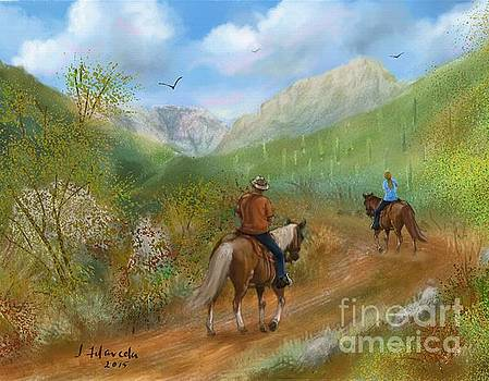 Trail Ride in Sabino Canyon by Judy Filarecki