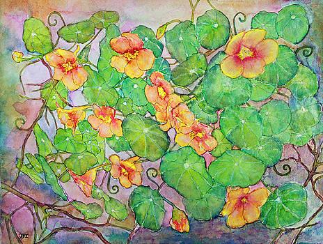Trailing Nasturtium Vine by Janet Immordino