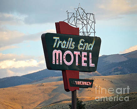 Trails End Motel Sign, Wyoming by Catherine Sherman