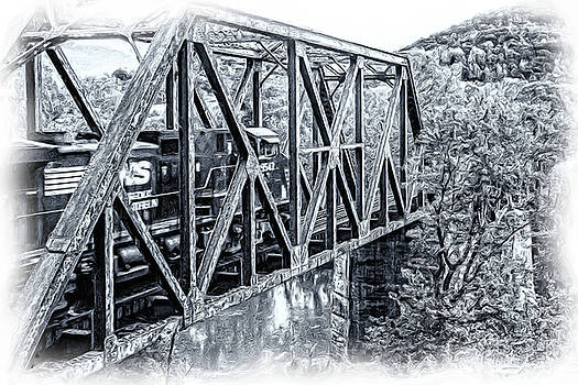 Train and Trestle 2 by Keith Bowen