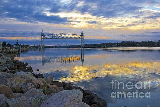 Train Bridge Sunrise  by Amazing Jules