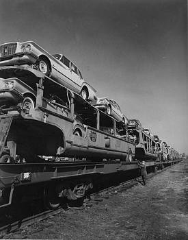 Chicago and North Western Historical Society - Train Carrying Automobile Freight - 1960