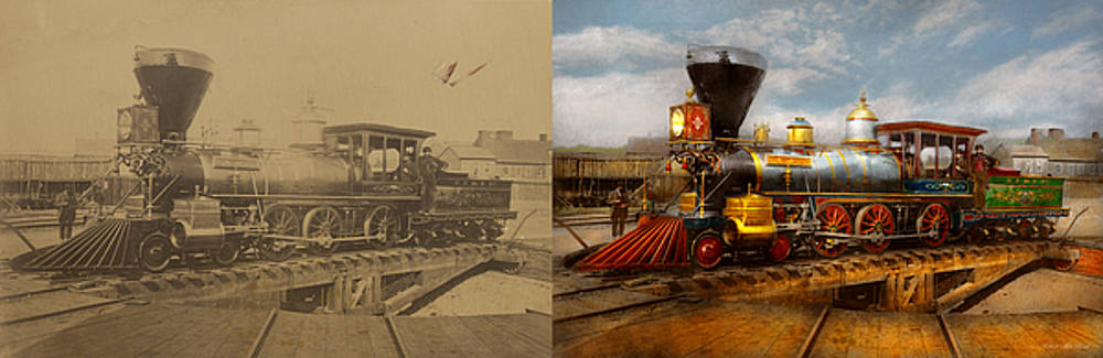Train - Civil War - EM Stanton 1864 - Side by Side by Mike Savad