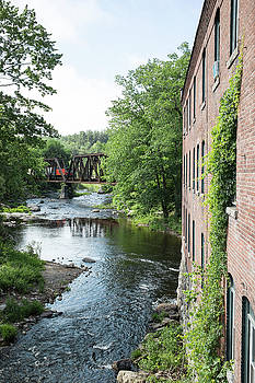 Train Crossing over the Souhegan River, Wilton by New England Photographic