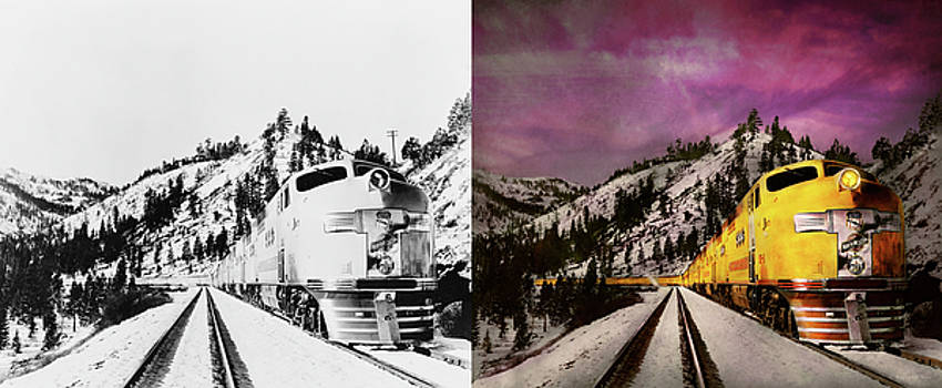 Train - Retro - Travel with style 1940 - Side by Side by Mike Savad