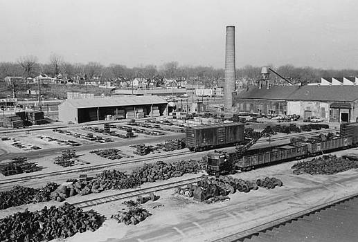 Chicago and North Western Historical Society - Aerial Shot of Clinton Machine Shop