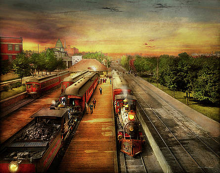 Train Station - The romance of the rails 1908 by Mike Savad