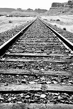 Train Tracks Into The Horizon by Athena Mckinzie