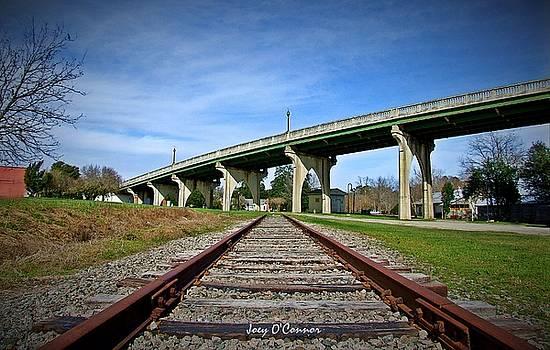 Train Tracks Main Street Bridge Conway South Carolina by Joey OConnor