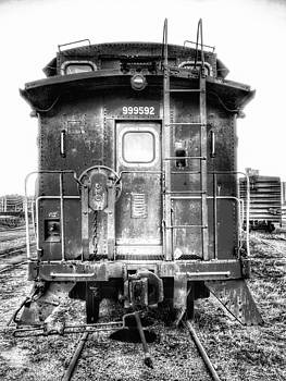 Train waiting in Atchison Kansas by Dustin Soph