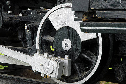 Train Wheel by Michelle Halsey