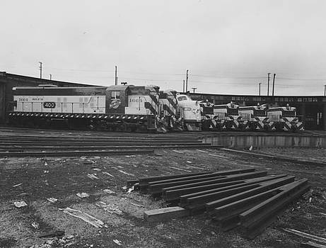Chicago and North Western Historical Society - Diesel Engines at Milwaukee Roundhouse - 1953