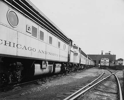 Chicago and North Western Historical Society - Train Docked in Chicago - 1962