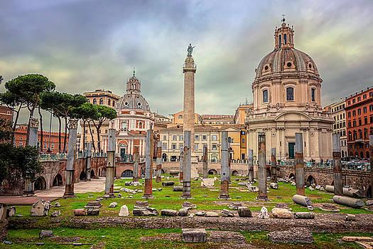 Trajan's Forum Rome Italy by Joan Carroll