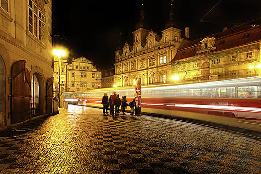 Colin Cuthbert - Tram at Night