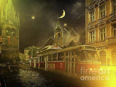 Tramatic - Prague Street Scene by Leigh Kemp