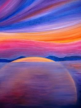 Tramonto sul lago by Alberto V  Donati