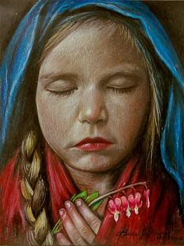 Tranquil Bleeding Hearts by Linda Nielsen