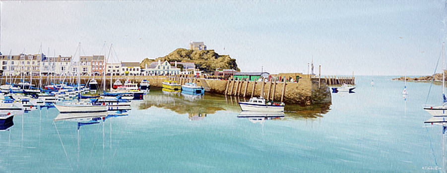 Tranquil Evening at Ilfracombe Harbour by Mark Woollacott