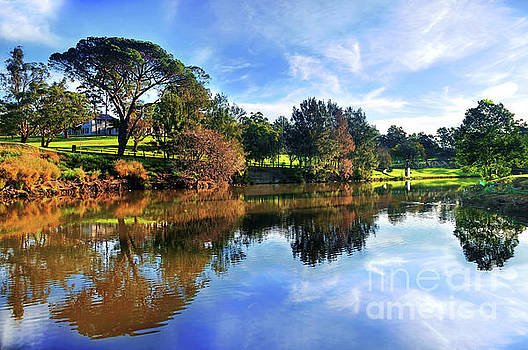Tranquil River 2 by Kaye Menner by Kaye Menner