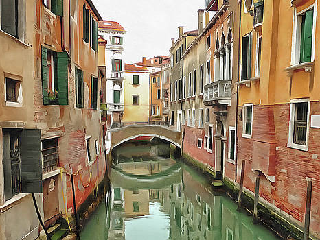 Tranquil Venice by Bishopston Fine Art