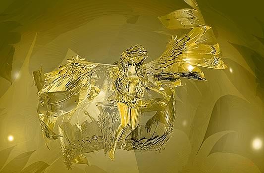 Transparent Gold Angel by Deleas Kilgore