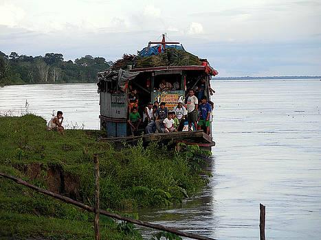Transportation in the Jungle of Peru by Pilar  Martinez-Byrne