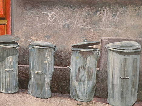 Trash Can Art by Wendy Hill