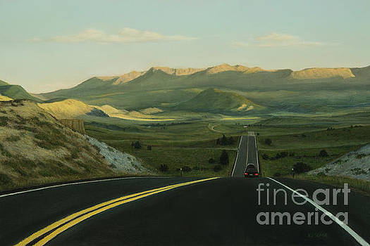 Traveling Down the Highway by Xenia Sease