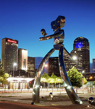 Traveling Man Dallas Texas 063018 by Rospotte Photography
