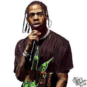 Travis Scott, performing artist by Ethan Altshuler