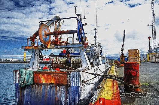 Trawler at the wharf by Jean-Louis Delhaye