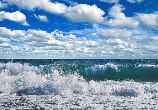 Treasure Coast Beach Seascape Florida 728 by Ricardos Creations
